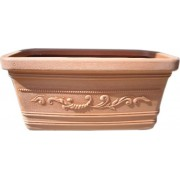 nuova plastica adriatica Prestige Vaso In Resina Per Fiori Lunghezza 100 Cm Colore Terracotta - Prestige