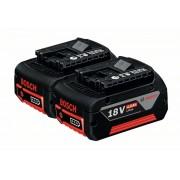 Комплект акумулатори GBA 18 V 4,0 Ah M-C, 2 x 4,0 Ah, 1600Z00042, BOSCH