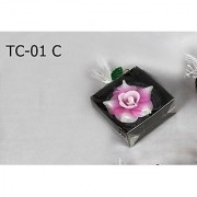 Handmade Flower Shaped 1 Floating Candle-Pink Colour