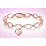 GameChanger Asso T/A Gemnations £12 instead of £99.99 (from Gemnations) for a sister heart chain bracelet made with crystals from Swarovski ® - save 87%