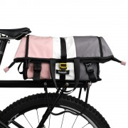 RHINOWALK X2002 Bike Bag Postman Pannier Bag Rear Seat Bag Rack Trunk Bag Shoulder Bag - Pink