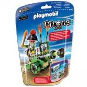 Комплект Плеймобил 6162 - Пиратски капитан със зелено оръдие - Playmobil, 291262