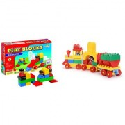Virgo Toys Play Blocks Play Set 1 and Junior train set (Combo)