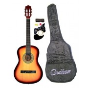 "38"" SUNBURST Acoustic Guitar Starters Beginner Package, Guitars, Gig Bag, Strap, Pitch Pipe Tuner, 2 Pick Guards, Extra String & DirectlyCheap(TM) Pick (SK-AG38) [Teacher Approved]"