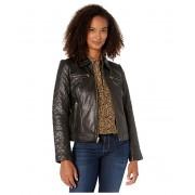 Cole Haan Diamond Quilt Leather Jacket Black