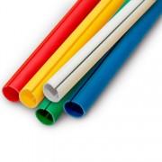 Perfil C para acabamento de faixas e banners disponível com 16 mm (5/8), 19 mm (3/4) e 23 mm (7/8) com opção de corte de 30 cm a 3 metros Branco