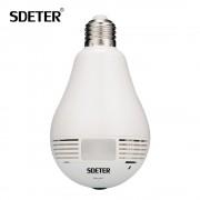 Bulb Light IP Camera 360 Degree Video Surveillance CCTV Camera Wireless Wi-Fi Bulb Lamp Fisheye Panoramic P2P Home Security 960P