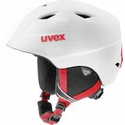 Uvex Skihelm airwing 2 pro, white-red mat 54-58cm, rot/weiß
