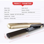 Kemei Golden Ceramic KM-327 Professional Hair Straightener Saloon Quality Result With Temperature Setting