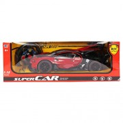 Planet of Toys Boy's and Girl's 1:12 5-Function Super Car with Rechargeable Battery, Door Open and Remote Control (Red)