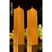 Candles by Milanne Marina kaars, GOUD, 2 STUKS h: 21 cm - kaarsen