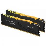 Memorija Kingston DDR4 16GB 2666MHz (2x8GB) HyperX Fury Black RGB HX426C16FB3AK2/16