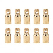 T-Trees 10 Pairs 6.0mm Copper Bullet Banana Plug Connectors Male + Female for RC Motor ESC Battery Part