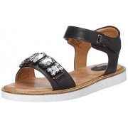 Clarks Women's Lydie Joelle Black Leather Fashion Sandals - 4 UK