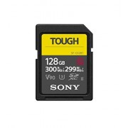 Sony Tough High Performance 128GB SDXC UHS-II Class 10 U3 Flash Memory Card with Blazing Fast Read Speed up to 300MB/s (SF-G128T/T1)
