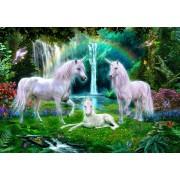 Puzzle Bluebird - Rainbow Unicorn Family, 1.000 piese (70193)