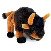 Puzzled Wild Small Buffalo Super - Soft Stuffed Plush Cuddly Animal Toy Animals / Theme 9.5 Inch (5777)