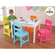 Set mesa y 4 sillas infantil colores brillantes KidKraft