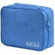 House of Quirk Portable Travel Toiletry Bag Multi-Purpose Makeup Organizer Waterproof Cosmetic Case - Light Blue Travel Toiletry Kit(Blue)