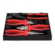 KS Tools Fogó Készlet Átlós-Vágás/Kombinált/Orr/Vízpumpa-Fogók 4db 160-240mm