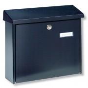 Simple steel letter box AMSTERDAM, black