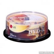 DVD-R, LG 25PCS 8X CAKE, BOX