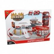 Kidz Corner Super garage Rescue Centre - Playset dei Pompieri