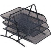 Set 3 tavite pt documente mesh,negru