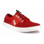 Mclout Mens Red Lace-up Sneakers