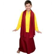 Kaku Fancy Dresses Buddha Fancy Dress Costume/Shaolin Costume for Kids/Tibetan Monk Costume -Yellow for Boys