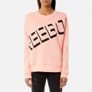 Reebok Women's Logo Crew Neck Sweatshirt - Peach Twist - L - Pink