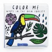 WEE GALLERY Livre de bain à colorier - Forêt tropicale