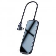 Baseus USB-C Mirror Series Hub CAHUB-CZ0G - мултифункционален хъб за свързване на допълнителна периферия за устройства с USB-C (тъмносив)