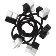 Adbeni Black Nylon Coated Rubber Hair Bands Good Choice