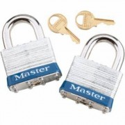Master Lock 2-Pack of 1 9/16Inch EX Series Shrouded Steel Keyed Alike Padlock, Model 3T