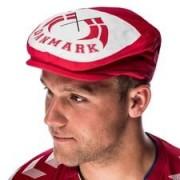 Denemarken Baret Hat - Rood/Wit