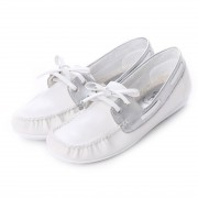 【SALE 37%OFF】シュゼット Shoset WILSON デッキシューズ (シロ/シルバー) レディース