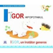 I de la Igor Hipopotamul - Igor un inotator gras cartonat