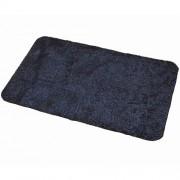 Antracitová bavlněná textilní pratelná vstupní vnitřní čistící rohož Natuflex - délka 60 cm, šířka 100 cm a výška 0,8 cm