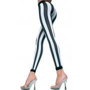 Music Legs Jambières à rayures verticales - Noir / Blanc