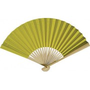 Chartreuse Paper Hand Fans