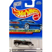 2000 Mattel Hot Wheels Future Fleet 2000 Series #3 Of 4 Jeepster (Black) Tinted Windows Collectibles Wheels Ff 2000 Graphics Collector #003 New Out Of Production Limited Edition Collectible