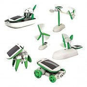 Creative DIY 6 IN 1 Educational Learning Power Solar Robot Kit Kids Toy Science & Nature