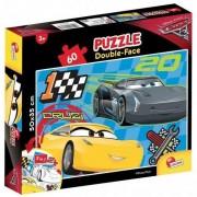Puzzle Lisciani, Plus, cu 2 fete, Cars 3, 60 piese