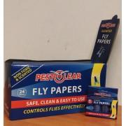 Спирала-капан с лепило за мухи и други летящи насекоми - 24 х 4 бр. PestClear