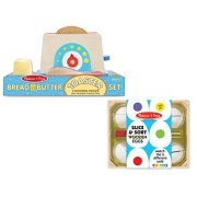 Melissa & Doug Bread and Butter Toast Set with Slice and Sort Egg Set - Wooden