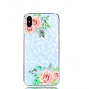 GadgetBay Coque diamant TPU iPhone XS Max - Fleurs