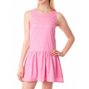 US Polo Assn Drop Circle Dot Tank Dress PINK ZINC
