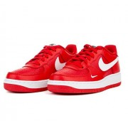 Nike Boy's Air Force 1 Low Basketball Sneaker University Red/White-Black 6Y
