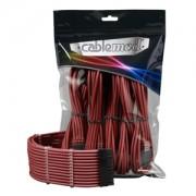 Set cabluri prelungitoare CableMod PRO ModMesh, cleme incluse, Blood Red